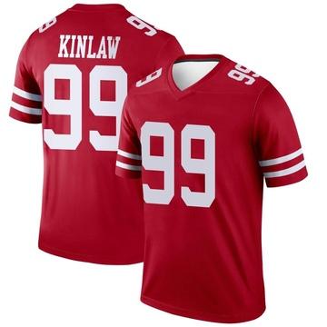 Youth Nike San Francisco 49ers Javon Kinlaw Scarlet Jersey - Legend