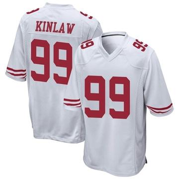 Youth Nike San Francisco 49ers Javon Kinlaw White Jersey - Game