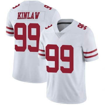 Youth Nike San Francisco 49ers Javon Kinlaw White Vapor Untouchable Jersey - Limited