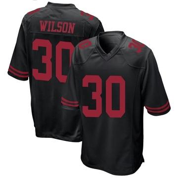 Youth Nike San Francisco 49ers Jeff Wilson Black Alternate Jersey - Game