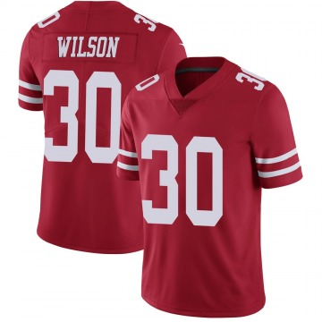 Youth Nike San Francisco 49ers Jeff Wilson Red Team Color Vapor Untouchable Jersey - Limited