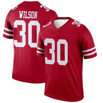 Youth Nike San Francisco 49ers Jeff Wilson Scarlet Jersey - Legend