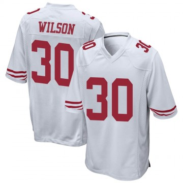 Youth Nike San Francisco 49ers Jeff Wilson White Jersey - Game