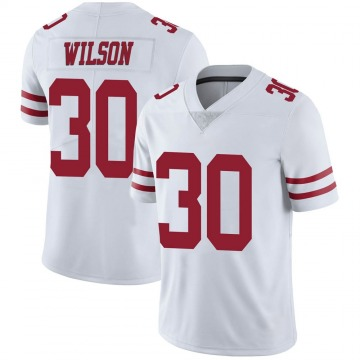 Youth Nike San Francisco 49ers Jeff Wilson White Vapor Untouchable Jersey - Limited