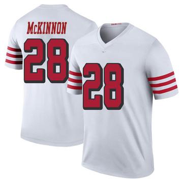 Youth Nike San Francisco 49ers Jerick McKinnon White Color Rush Jersey - Legend