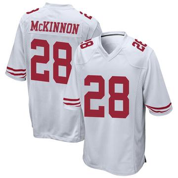 Youth Nike San Francisco 49ers Jerick McKinnon White Jersey - Game