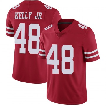 Youth Nike San Francisco 49ers Jermaine Kelly Jr. Scarlet 100th Vapor Jersey - Limited