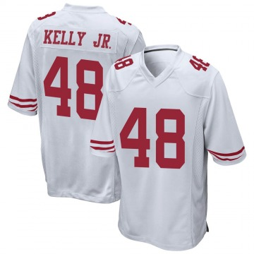 Youth Nike San Francisco 49ers Jermaine Kelly Jr. White Jersey - Game