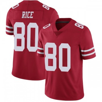 Youth Nike San Francisco 49ers Jerry Rice Red Team Color Vapor Untouchable Jersey - Limited