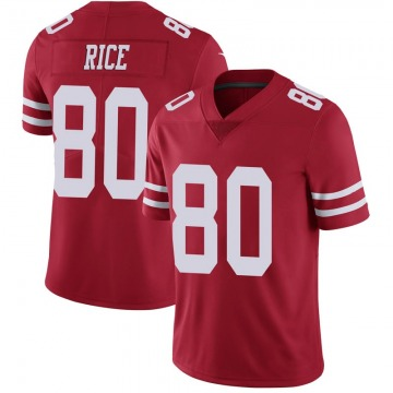 Youth Nike San Francisco 49ers Jerry Rice Scarlet 100th Vapor Jersey - Limited