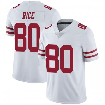 Youth Nike San Francisco 49ers Jerry Rice White Vapor Untouchable Jersey - Limited