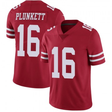 Youth Nike San Francisco 49ers Jim Plunkett Scarlet 100th Vapor Jersey - Limited