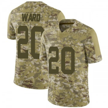 Youth Nike San Francisco 49ers Jimmie Ward Camo 2018 Salute to Service Jersey - Limited