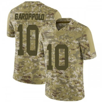 Youth Nike San Francisco 49ers Jimmy Garoppolo Camo 2018 Salute to Service Jersey - Limited