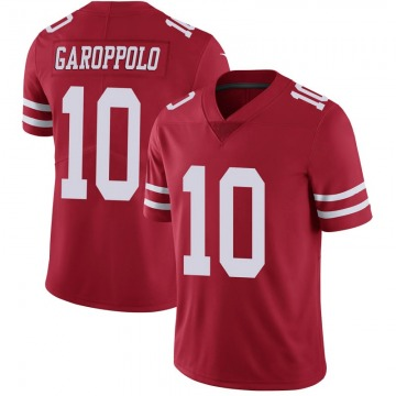 Youth Nike San Francisco 49ers Jimmy Garoppolo Scarlet 100th Vapor Jersey - Limited