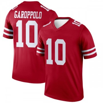 Youth Nike San Francisco 49ers Jimmy Garoppolo Scarlet Jersey - Legend