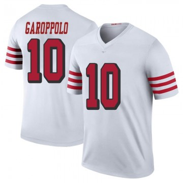 Youth Nike San Francisco 49ers Jimmy Garoppolo White Color Rush Jersey - Legend