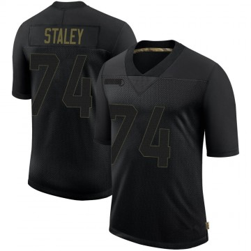 Youth Nike San Francisco 49ers Joe Staley Black 2020 Salute To Service Jersey - Limited