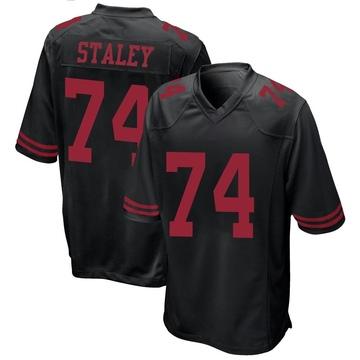 Youth Nike San Francisco 49ers Joe Staley Black Alternate Jersey - Game