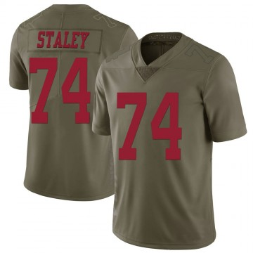 Youth Nike San Francisco 49ers Joe Staley Green 2017 Salute to Service Jersey - Limited