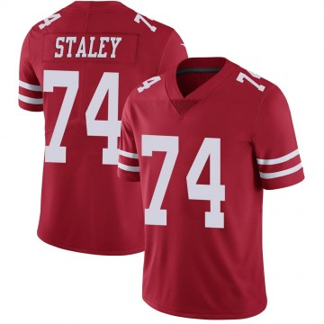 Youth Nike San Francisco 49ers Joe Staley Scarlet 100th Vapor Jersey - Limited