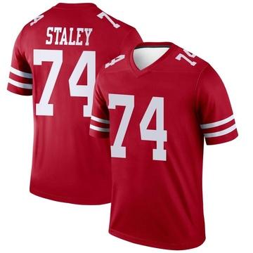 Youth Nike San Francisco 49ers Joe Staley Scarlet Jersey - Legend