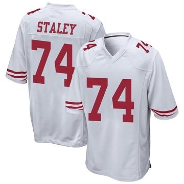 Youth Nike San Francisco 49ers Joe Staley White Jersey - Game