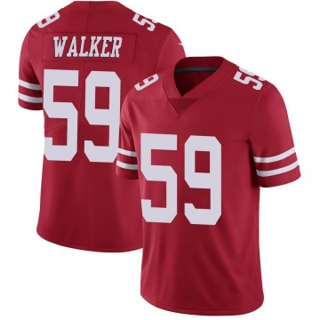 Youth Nike San Francisco 49ers Joe Walker Red Team Color Vapor Untouchable Jersey - Limited