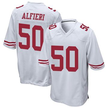 Youth Nike San Francisco 49ers Joey Alfieri White Jersey - Game