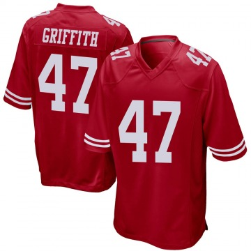 Youth Nike San Francisco 49ers Jonas Griffith Red Team Color Jersey - Game