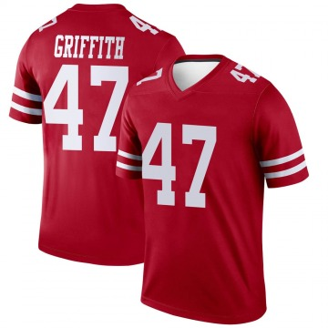 Youth Nike San Francisco 49ers Jonas Griffith Scarlet Jersey - Legend
