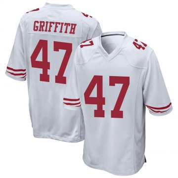 Youth Nike San Francisco 49ers Jonas Griffith White Jersey - Game