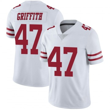 Youth Nike San Francisco 49ers Jonas Griffith White Vapor Untouchable Jersey - Limited