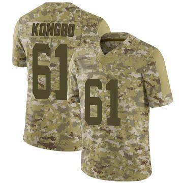 Youth Nike San Francisco 49ers Jonathan Kongbo Camo 2018 Salute to Service Jersey - Limited
