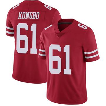 Youth Nike San Francisco 49ers Jonathan Kongbo Scarlet 100th Vapor Jersey - Limited