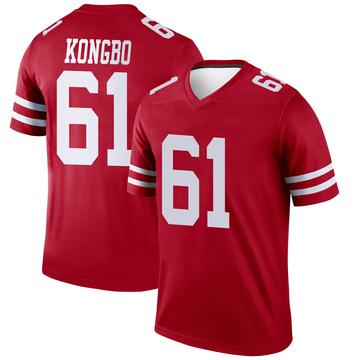 Youth Nike San Francisco 49ers Jonathan Kongbo Scarlet Jersey - Legend