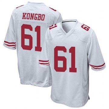 Youth Nike San Francisco 49ers Jonathan Kongbo White Jersey - Game