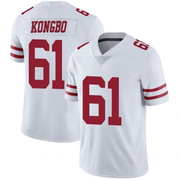 Youth Nike San Francisco 49ers Jonathan Kongbo White Vapor Untouchable Jersey - Limited