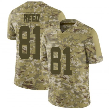 Youth Nike San Francisco 49ers Jordan Reed Camo 2018 Salute to Service Jersey - Limited
