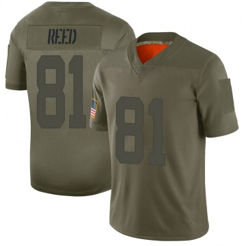 Youth Nike San Francisco 49ers Jordan Reed Camo 2019 Salute to Service Jersey - Limited