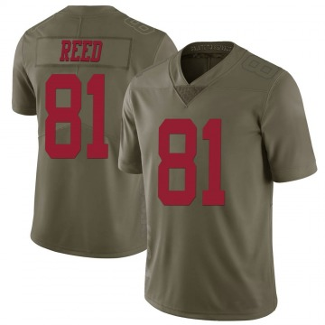 Youth Nike San Francisco 49ers Jordan Reed Green 2017 Salute to Service Jersey - Limited