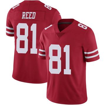 Youth Nike San Francisco 49ers Jordan Reed Scarlet 100th Vapor Jersey - Limited