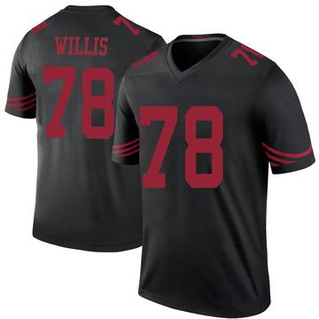 Youth Nike San Francisco 49ers Jordan Willis Black Color Rush Jersey - Legend