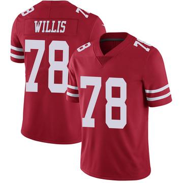 Youth Nike San Francisco 49ers Jordan Willis Red Team Color Vapor Untouchable Jersey - Limited
