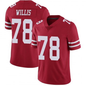 Youth Nike San Francisco 49ers Jordan Willis Scarlet 100th Vapor Jersey - Limited