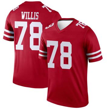 Youth Nike San Francisco 49ers Jordan Willis Scarlet Jersey - Legend