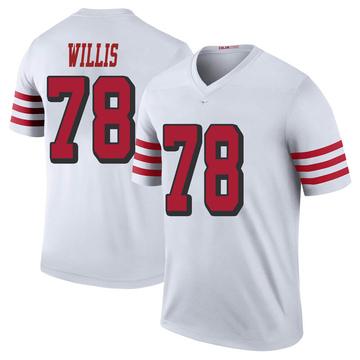 Youth Nike San Francisco 49ers Jordan Willis White Color Rush Jersey - Legend