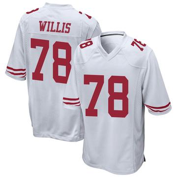 Youth Nike San Francisco 49ers Jordan Willis White Jersey - Game