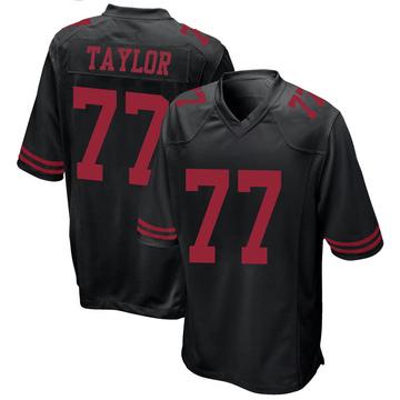 Youth Nike San Francisco 49ers Jullian Taylor Black Alternate Jersey - Game