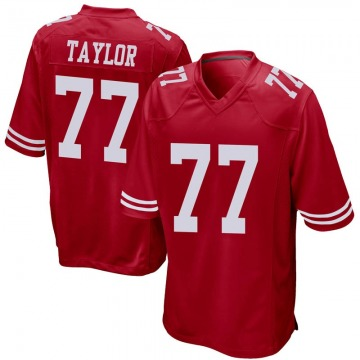 Youth Nike San Francisco 49ers Jullian Taylor Red Team Color Jersey - Game